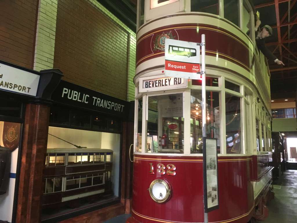 Tram at the transport museum