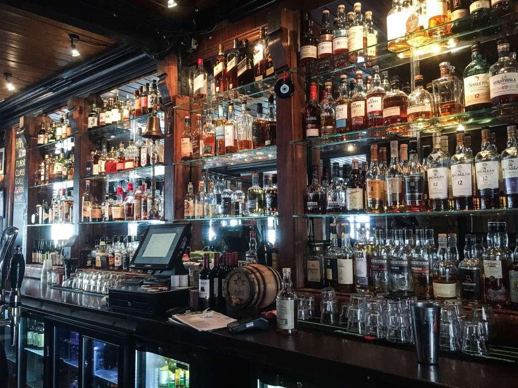 Shelves of Whisky! Dillon Bar Reykjavik, Iceland