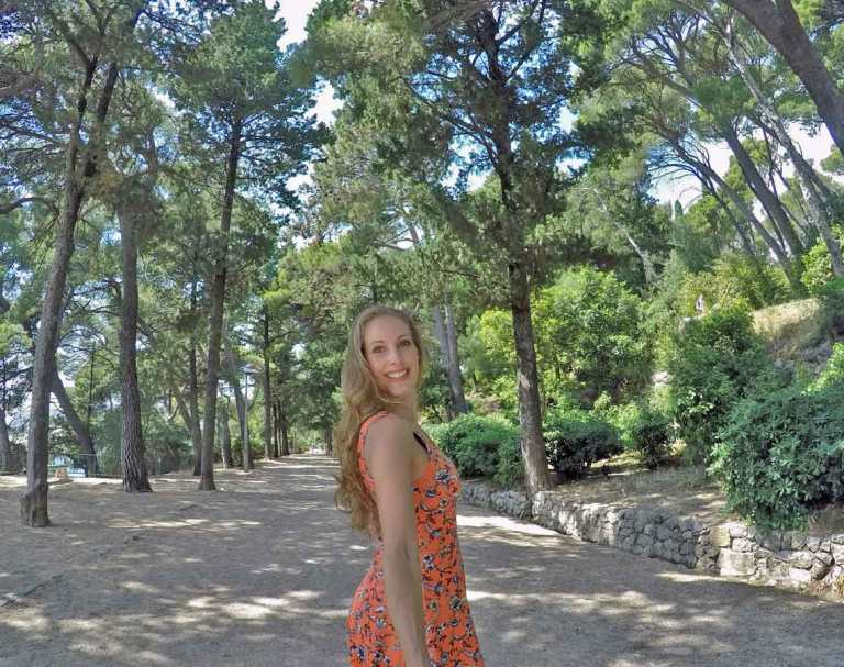 Escaping the crowds in Dubrovnik Old town at the nearby Gardec Park