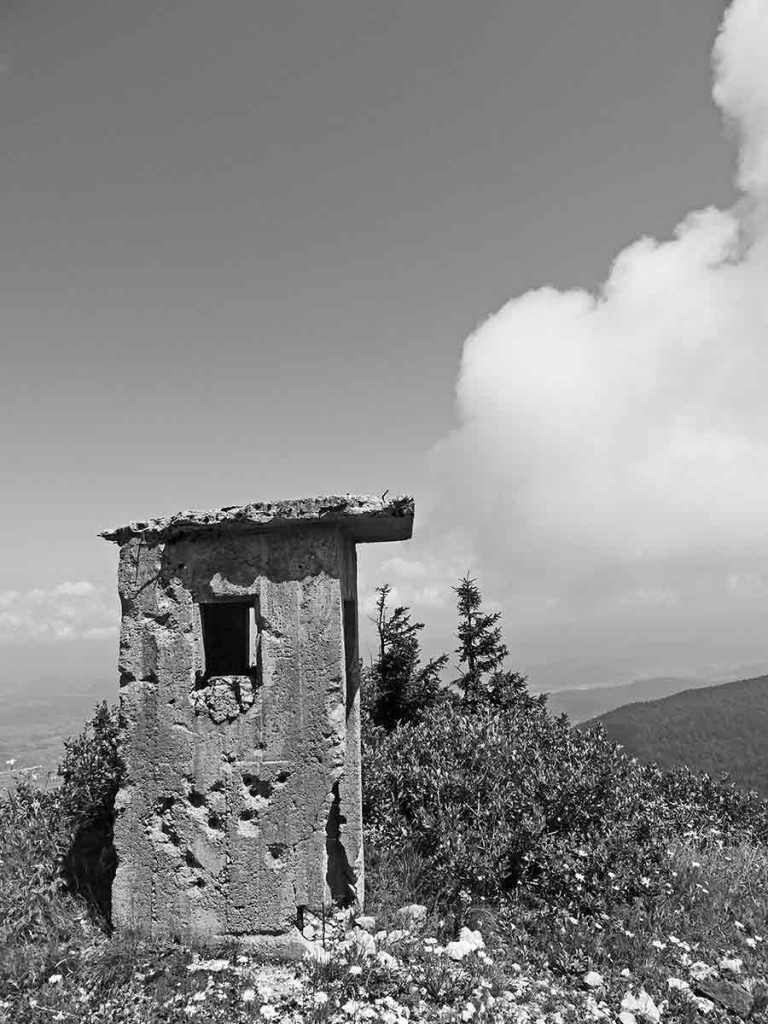 Bullet-holes-in-a-check-point-station-on-Pljesivica-Mountain-Hike-Optimised