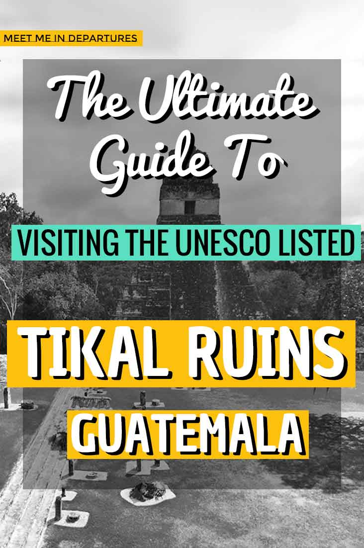 Find out why the Tikal Sunrise Tour is the BEST Tikal Tour out there. Full itinerary on visiting Guatemala's top UNESCO site to see the famous Mayan ruins. All you need to know before visiting the ancient temples of Tikal in Guatemala. Includes a map, where to stay, what to see and loads of other juicy bits of info. #Tikal #Guatemala #CentralAmerica #Ruins #Temples