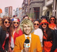... Leiden, city of discoveries. Well, certainly these bright students 'discovered' how to get properly dressed for a party like Queen's Day! From Leiden it as a short hop to ...