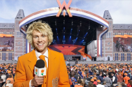 Spent some time at Museum square in Amsterdam, that day known as 'Orange square'. Celebrations in full swing with some of Holland's best entertainment. Then ...