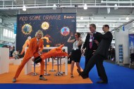 Visitors from MPI! Would you like some orange?