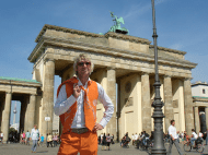 I spent the rest of the summer in Europe and visited many other countries. This picture shows me in Germany in front of the Brandenburg Gate in Germany.