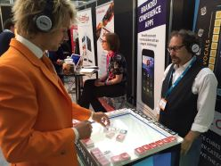 making music at The Meetings Show UK 2016