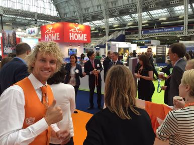 Team Holland getting ready for The Meetings Show UK 2016