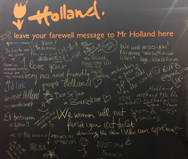 my farewell wall after day 1
