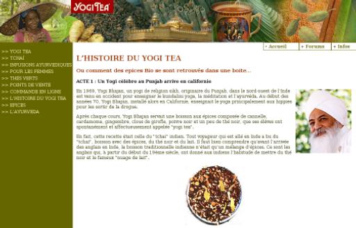 L'histoire du Yogi Tea