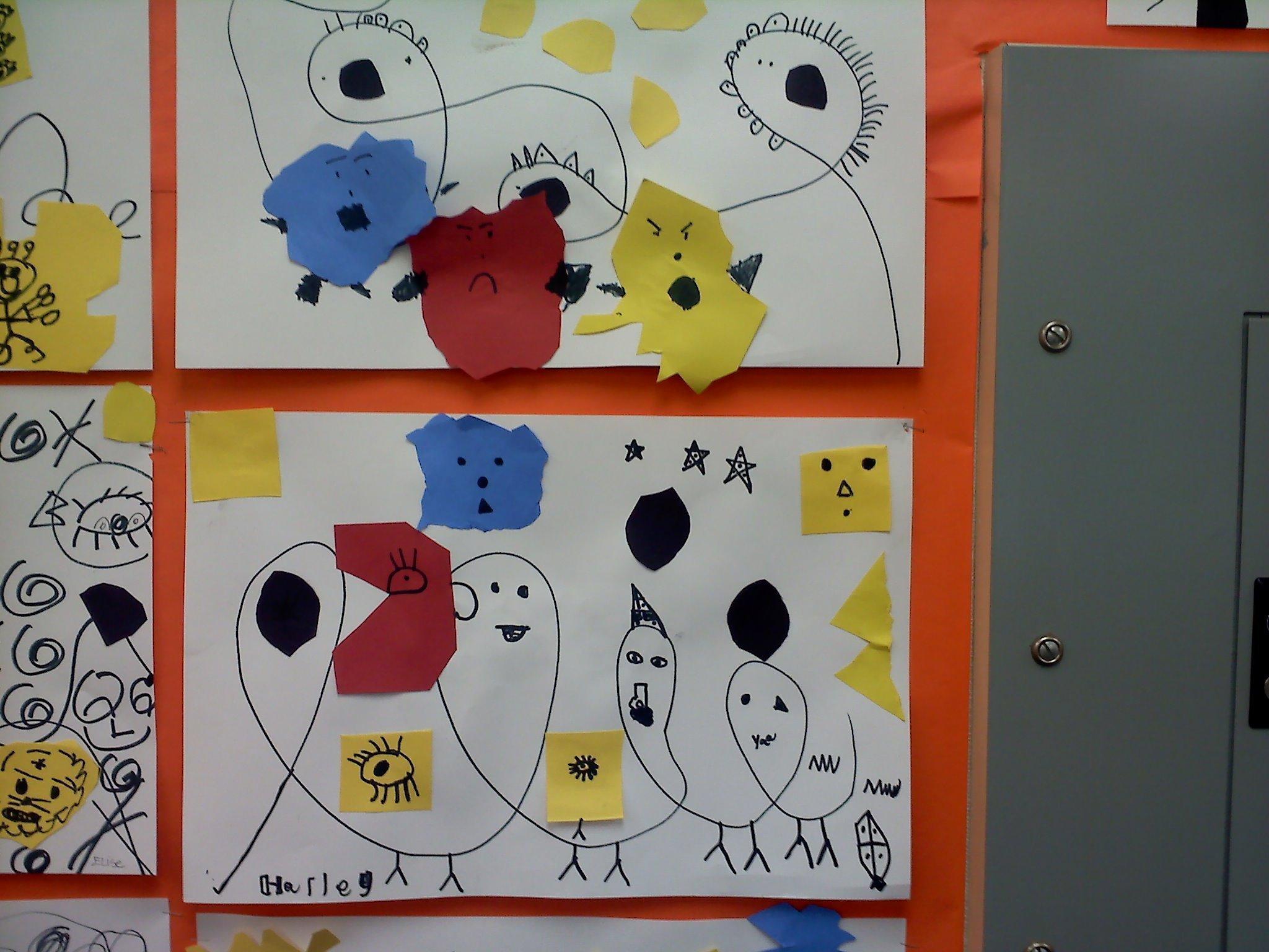 Meet The Masters Joan Miro Line Art Activity Emphasis