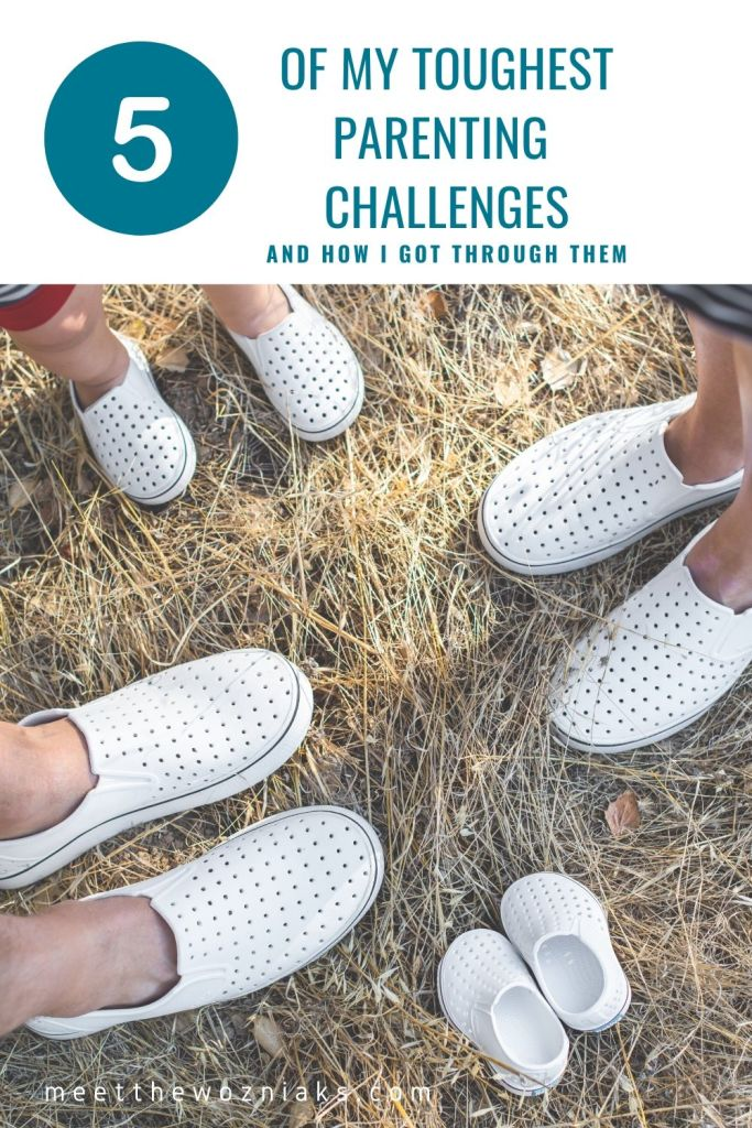 """Pinterest Pin titled """"my toughest parenting challanges"""""""