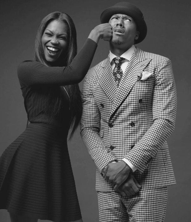 Amber Grimes and Nick Cannon