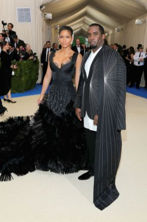 "Cassie in On Aura Tout Vu and Sean ""Diddy"" Combs in Rick Owens"