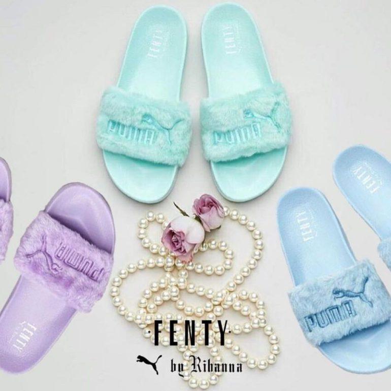 FentyxPuma Fur Slides