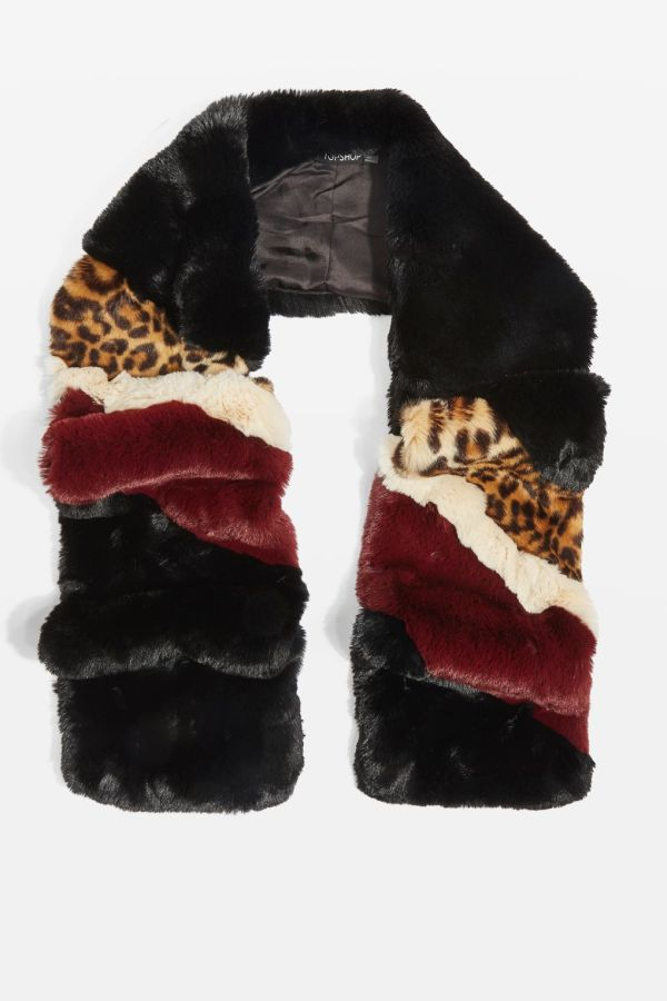 Topshop Leopard Colour Block Scarf $68