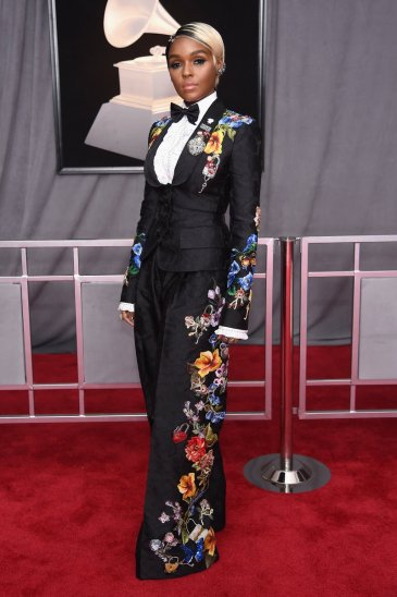 Janelle Monae wearing Dolce and Gabbana. Photo by Dimitrios Kambouris/Getty Images