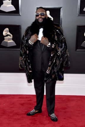 Rick Ross at the GRAMMYS. Photo by John Shearer/Getty Images