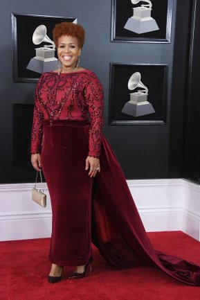 Tina Campbell at the 60th GRAMMYS. Photo by Steve Granitz/Getty Images
