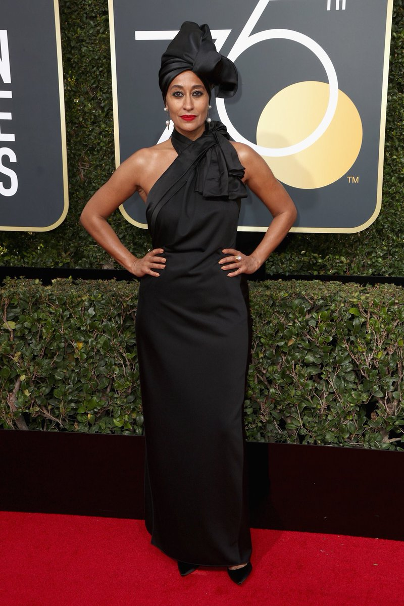 Tracee Ellis Ross wears Marc Jacobs and Irene Neuwirth Jewelry styled by Karla Welch.