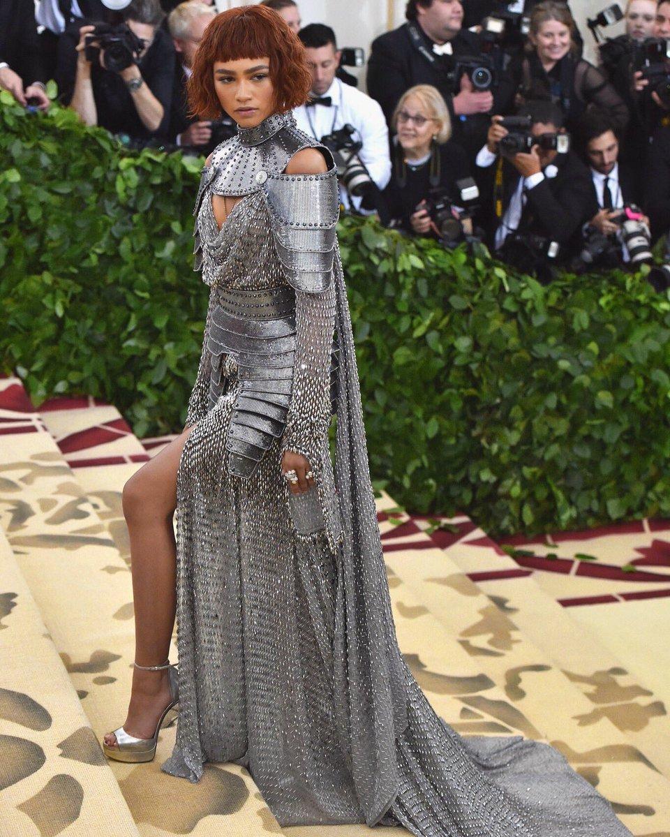 Zendaya wearing Versace via Twitter @Zendaya