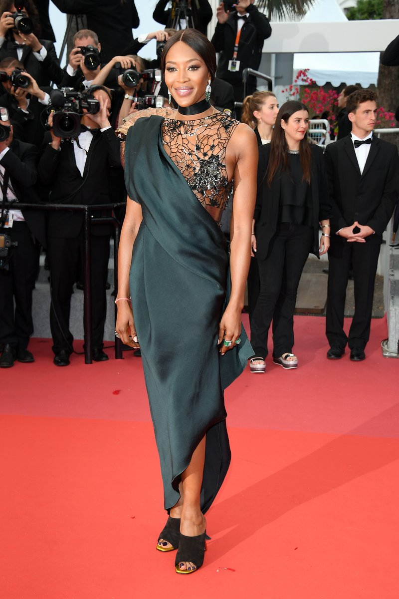 """Naomi Campbell attends a screening of """"BlacKkKlansman"""" during the 71st annual Cannes Film Festival. Photo by Venturelli/WireImage"""