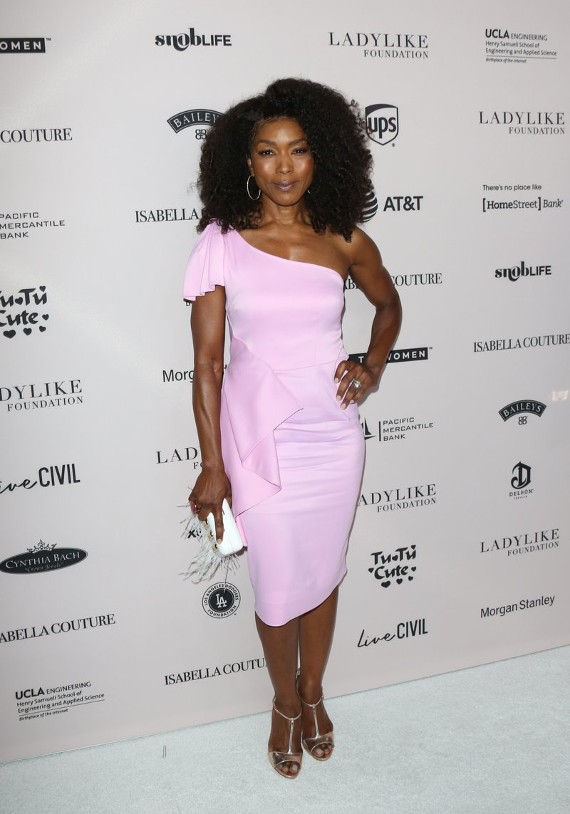 Angela Bassett attended the Ladylike Foundation's 2018 Annual Women Of Excellence Scholarship Luncheon in Beverly Hills. Photo by Paul Archuleta/Getty Images