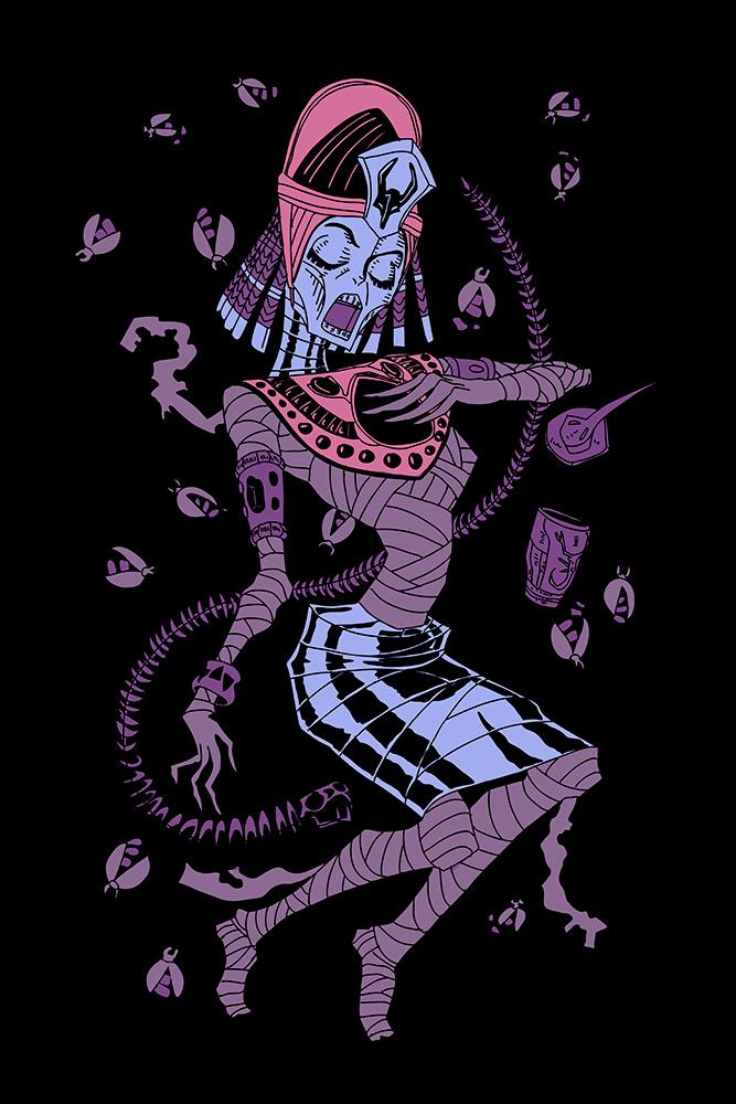 illustration reine jeu de carte king of dust