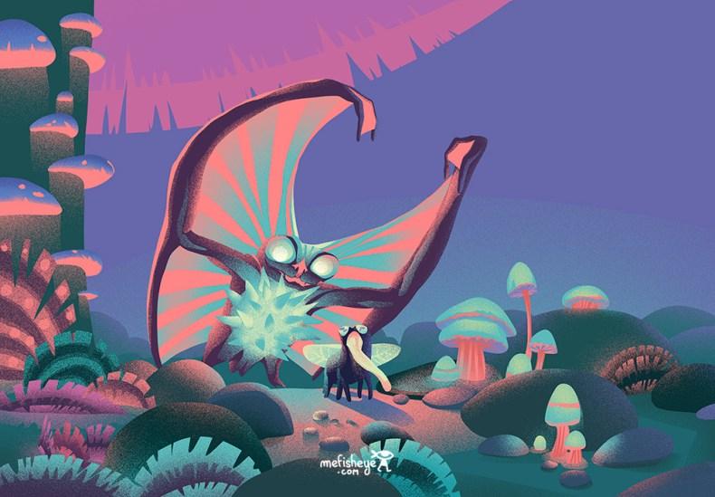 Un étrange concept de monstre issu de mon projet de jeu de société