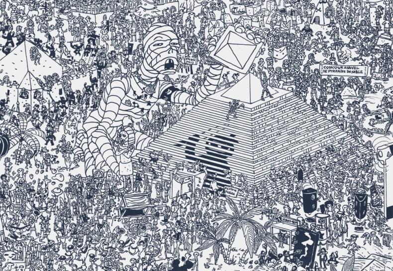 dessin de foule wimmelbilder egypte