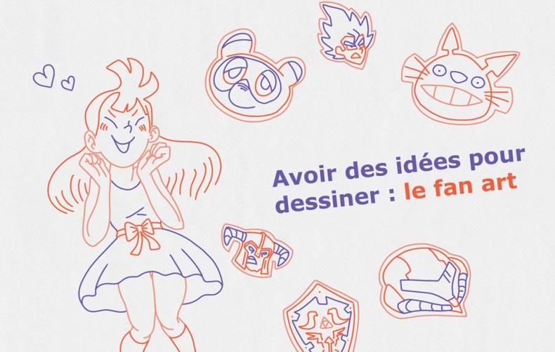 Jeune femme imaginant plusieurs sources d'inspiration pour dessiner son futur fan art
