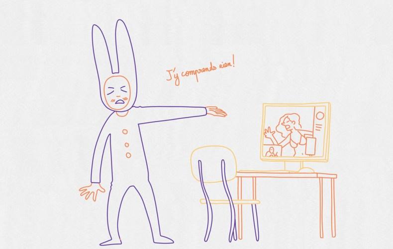 Le dessinateur amateur de tutoriel vidéo n'est pas mauvais. Cela va juste trop vite pour lui.