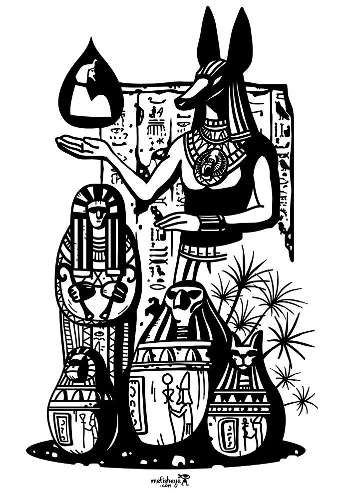 azteka coque telephone bois egypte anubis
