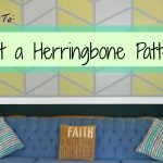 How to Paint a Herringbone Pattern