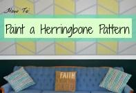 Paint a Herringbone Pattern