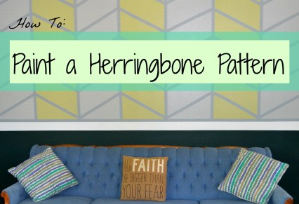 Paint a Herringbone Pattern