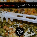 Recipe Sesame – Spinach Chicken Pasta