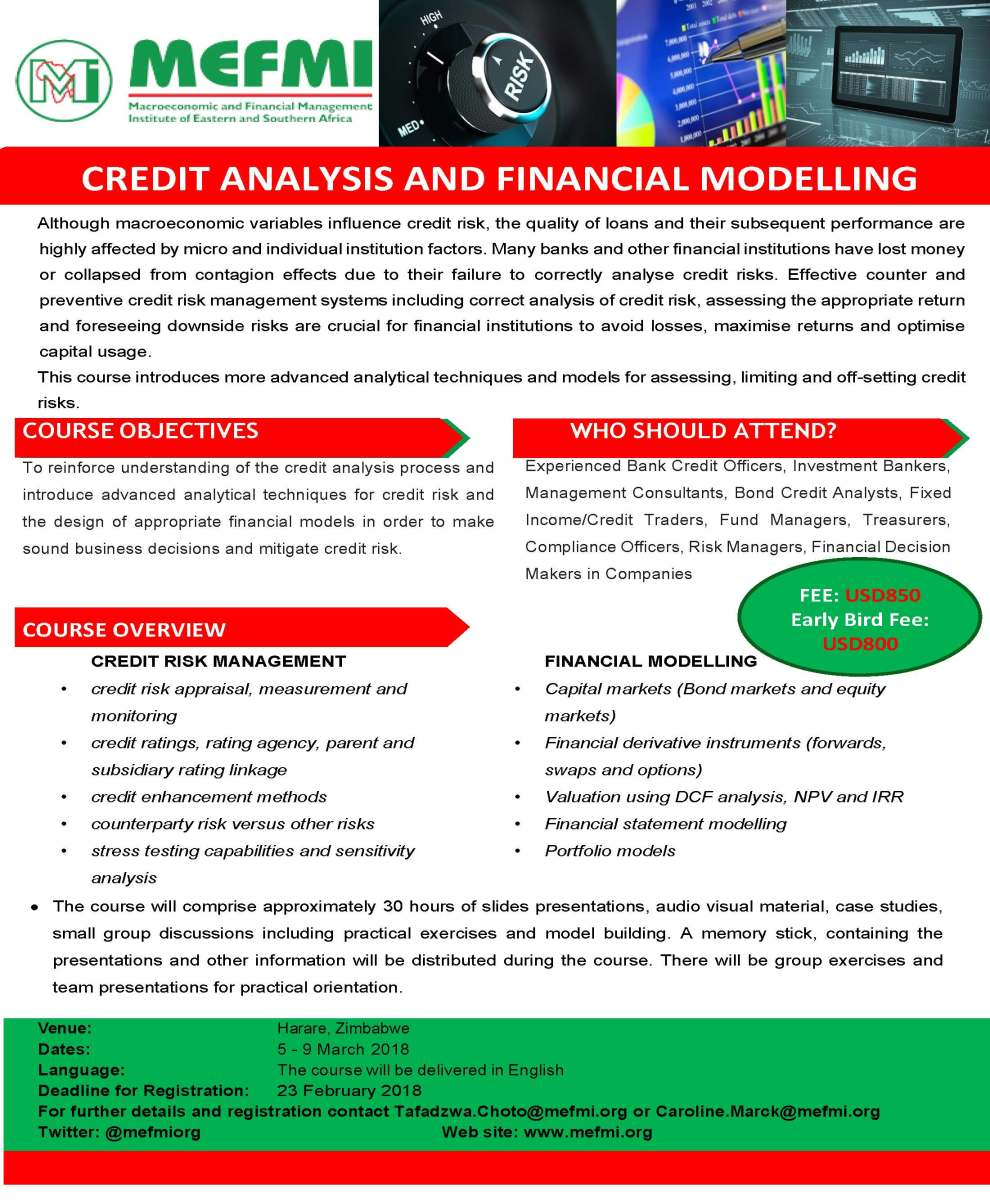 CREDIT ANALYSIS AND FINANCIAL MODELLING – MEFMI