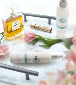 Cleanser and Toner with flowers