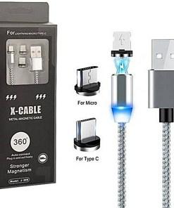 Cable de Carga Plomo Magnético con Tres Cabezales y Caja