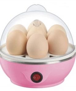 Máquina cocedora de huevos egg cooker color rosado mega bahía