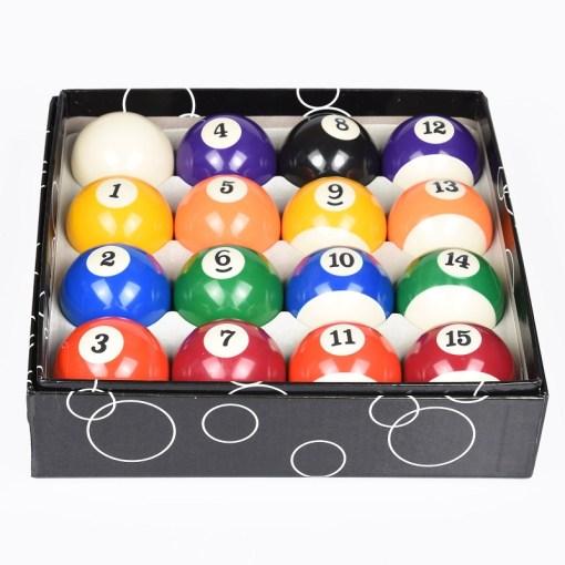 Set de bolas para mesa de billar 16 bolas con caja mega bahía