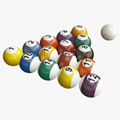 Set de bolas para mesa de billar 16 bolas mega bahía