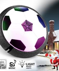 Disco de luz led pelota flotante de fútbol con sonido mega bahía