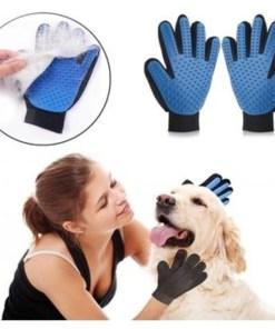 Guante de aseo para mascota true touch mujer y perro mega bahía