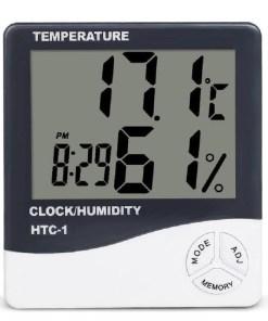 medidor de temperatura y humedad con pantalla digital manual mega bahía