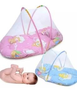 Mosquitero para bebé plegable y portátil toldillos de color rosado y celeste mega bahía