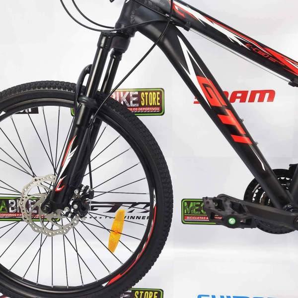 Bicicleta-guayaquil-mtb-montañera-talla-mega-bike-store-bike-shimano-gti-snap24-aro24-aluminio-rojo-negro
