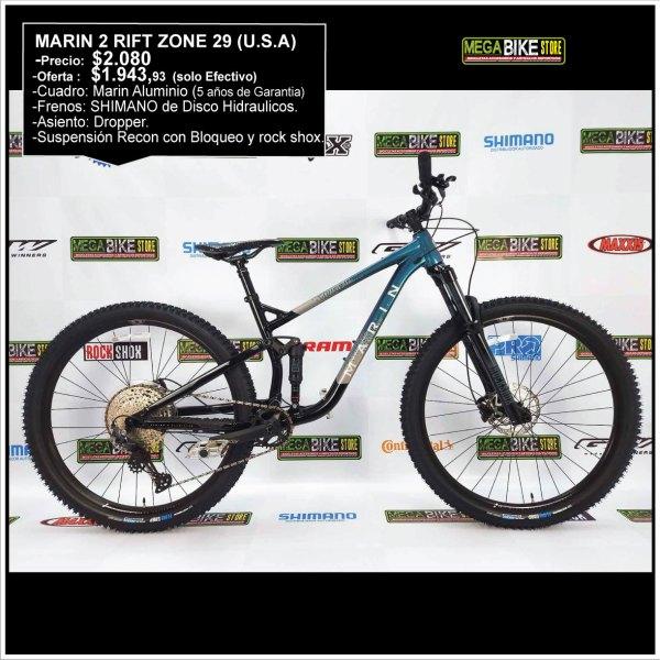Bicicleta-guayaquil-mtb-montañera-talla-mega-bike-store-bike-shimano-marin-2rift-zone-aro29-aluminio-recon-rockshox