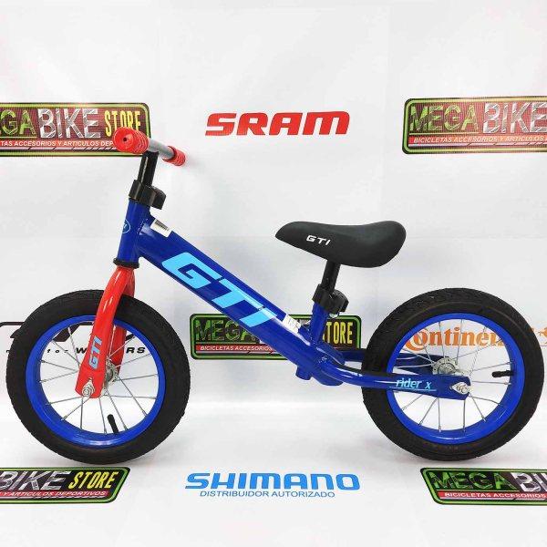 Bicicleta-guayaquil-mtb-montañera-talla-mega-bike-store-bike-shimano-gti-rider-aro-12-roja-azul-naranja-gris-negro