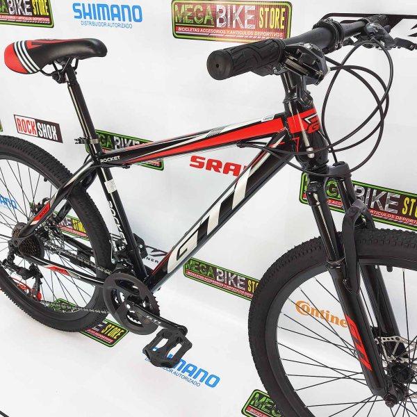 Bicicleta-guayaquil-mtb-montañera-talla-mega-bike-store-bike-shimano-gti-rocket-aro-26-acero-negro-rojo